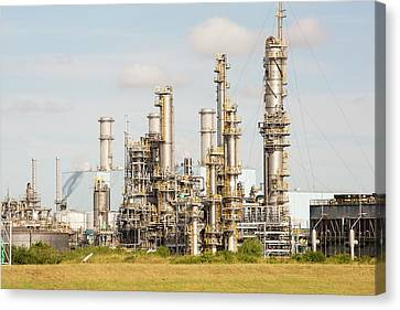 A Bp Chemical Plant At Salt End Canvas Print by Ashley Cooper