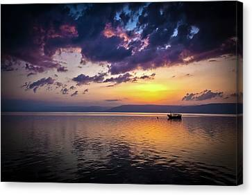 A Calm Settles On The Sea Of Galilee Canvas Print