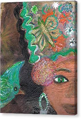 A Little Bird Told Me II Canvas Print by Anne-Elizabeth Whiteway