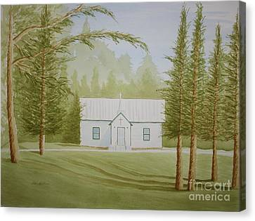 Canvas Print featuring the painting A North Carolina Church by Stacy C Bottoms