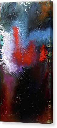 Canvas Print featuring the painting Abstract by Min Zou