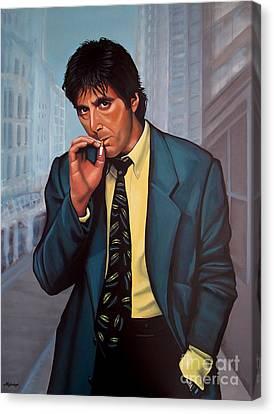 Scarface Canvas Print - Al Pacino 2 by Paul Meijering