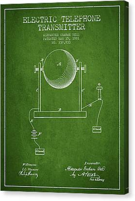 Alexander Graham Bell Electric Telephone Transmitter Patent From Canvas Print