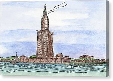 Alexandria Lighthouse Canvas Print