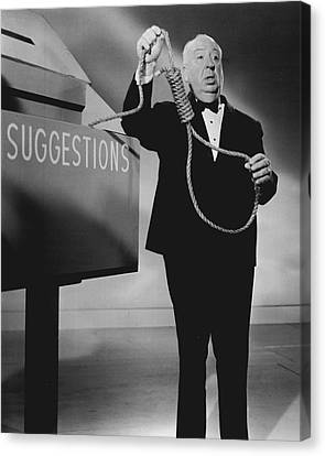 Thriller Canvas Print - Alfred Hitchcock by Retro Images Archive