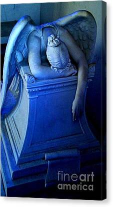 Canvas Print featuring the photograph Angelic Sorrow by Michael Hoard