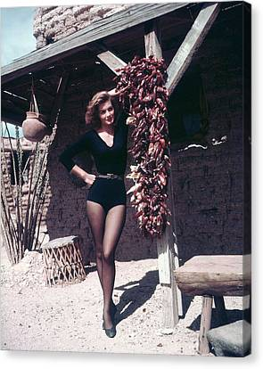 Angie Dickinson In Rio Bravo  Canvas Print by Silver Screen