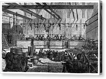 Aniline Dyeing Industry Canvas Print by Science Photo Library