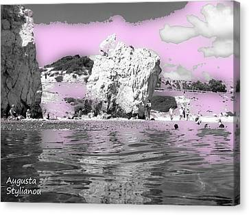 Aphrodite's Birth Place Canvas Print by Augusta Stylianou