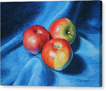 3 Apples Canvas Print
