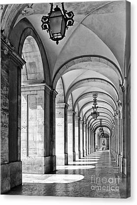 Arcades Of Lisbon Canvas Print by Jose Elias - Sofia Pereira