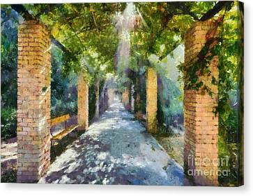 Benches Canvas Print - Archway by George Atsametakis