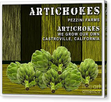 Artichokes Farm Canvas Print by Marvin Blaine