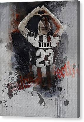 Arturo Vidal  Canvas Print by Corporate Art Task Force