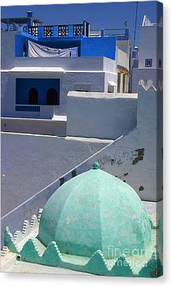 Canvas Print featuring the photograph Asilah Meaning Authentic In Arabic Fortified Town On Northwest Tip Of Atlantic Coast Of Morocco by Ralph A  Ledergerber-Photography