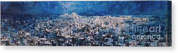 Athens Is Sleeping Canvas Print by Jelena Ignjatovic