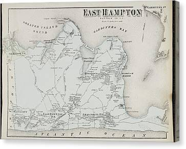 Atlas Of Long Island Canvas Print by British Library