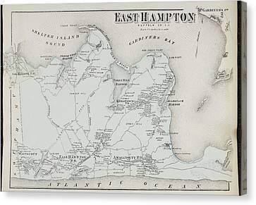 Atlas Of Long Island Canvas Print