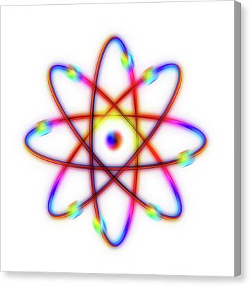 Atomic Structure Canvas Print by Alfred Pasieka