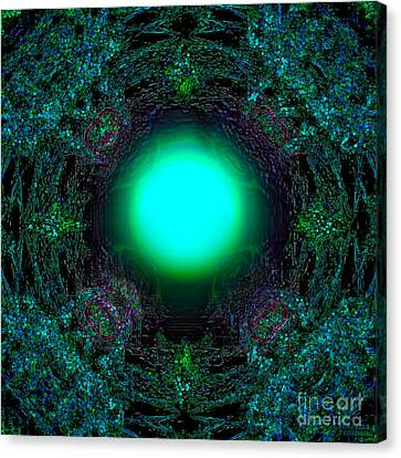 Canvas Print featuring the digital art Attraction Of The Light by Hanza Turgul