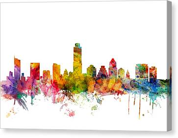 Austin Texas Skyline Canvas Print by Michael Tompsett