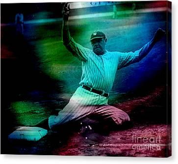Babe Ruth Canvas Print by Marvin Blaine
