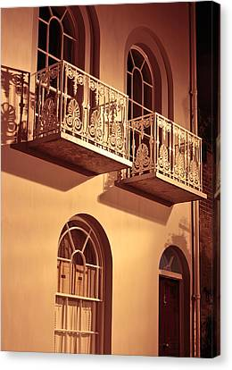 Balconies Canvas Print by Tom Gowanlock