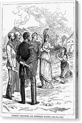 Balkan Insurgency, 1876 Canvas Print by Granger