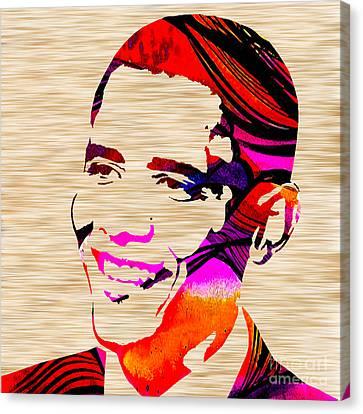 Barack Obama Canvas Print - Barack Obama by Marvin Blaine