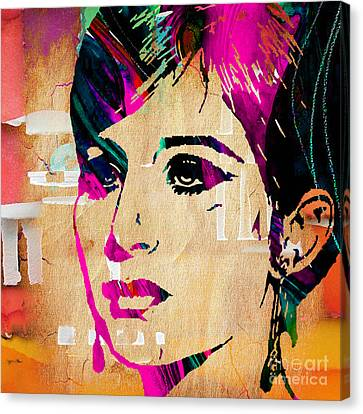 Barbara Streisand Collection Canvas Print
