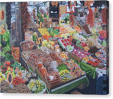 Barcelona Market Canvas Print