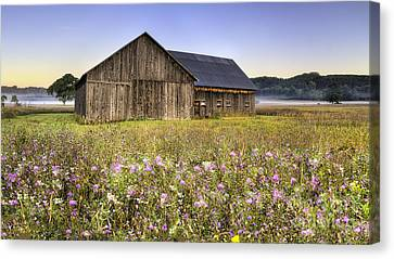 National Lakeshore Canvas Print - Barn In Sleeping Bear Dunes by Twenty Two North Photography