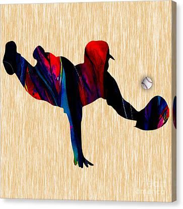 Baseball Canvas Print by Marvin Blaine