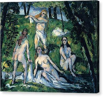 Bathers By Cezanne Canvas Print by John Peter