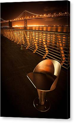 Bay Bridge At Night Canvas Print by Celso Diniz