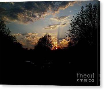 Canvas Print featuring the photograph Beauty In The Sky by Kelly Awad