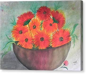Beauty Canvas Print by Usha Rai