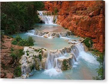 Beaver Falls Canvas Print by Scott Cunningham