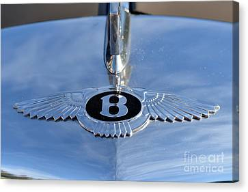 Mascot Canvas Print - 1956 Bentley S1 by George Atsametakis