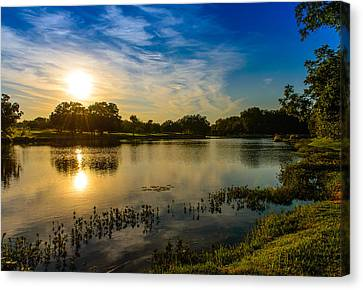 Berry Creek Pond Canvas Print by John Johnson