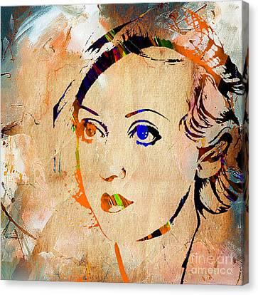 Retro Canvas Print - Bette Davis Collection by Marvin Blaine