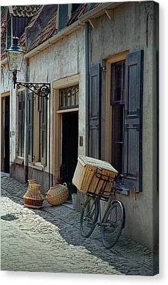 Bicycle On A Street By The Zuider Zee Canvas Print