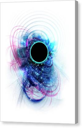 Black Hole Canvas Print by Victor Habbick Visions