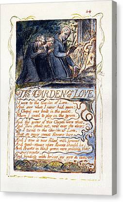 Christian Poetry Canvas Print - Blake: Songs Of Experience by Granger
