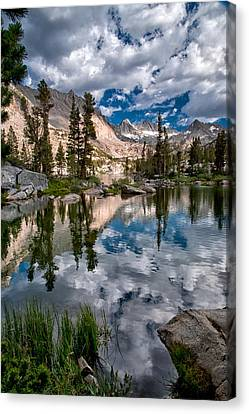 Blue Lake Canvas Print by Cat Connor