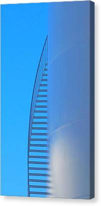 Blue Stairs Canvas Print by John King