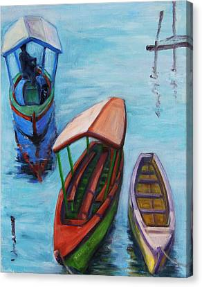 3 Boats IIi Canvas Print by Xueling Zou