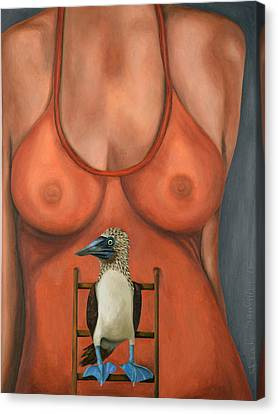 3 Boobies Canvas Print by Leah Saulnier The Painting Maniac