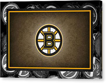 Skates Canvas Print - Boston Bruins by Joe Hamilton