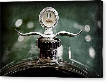 Motometer Canvas Print - Boyce Motometer - Hood Ornament by Jill Reger
